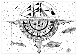 seahorse coloring page water worlds coloring pages for adults justcolor