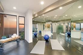 Home Gym Interior Design California Coastal Style Home Staging Design By White Orchid