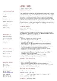 Housekeeper Job Description Resume by Cabin Crew Job Description Resume 10028