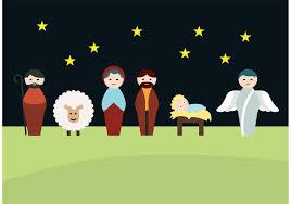 manger scene nativity scene download free vector art stock