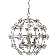 Orb Light Fixture by Currey Company Lighting Fleur Orb Chandelier 9849 Free Shipping
