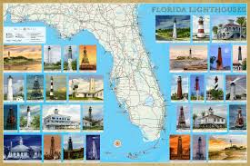 Michigan Lighthouse Map by Florida Lighthouses Illustrated Map U0026 Guide Bella Stander Gerald
