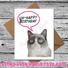 Cat Birthday Cards Best Grumpy Cat Birthday Cards Products On Wanelo