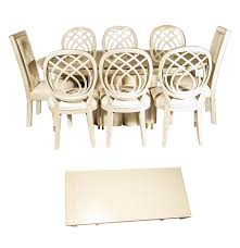 henredon dining room table and eight chairs ebth