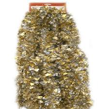 time tinsel garland gold lame with silver walmart