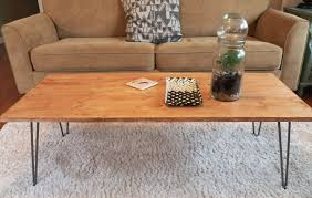 Hairpin Legs Coffee Table Diy Hairpin Leg Coffee Table Best Gallery Of Tables Furniture