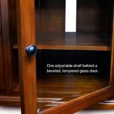 tv stand glass door amazon com leick westwood corner tv stand 60 inch cherry