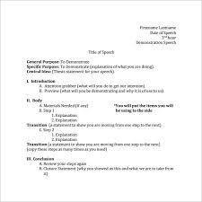 Speech Template speech outline template 32 free pdf word documents