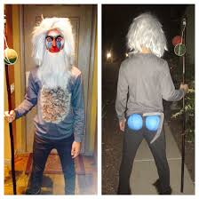 rafiki lion king themed makeup and costume fall halloween and