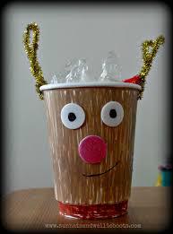 sun hats u0026 wellie boots paper cup reindeers