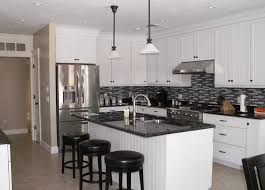 new kitchen new white kitchen design with black white mosaic backsplash