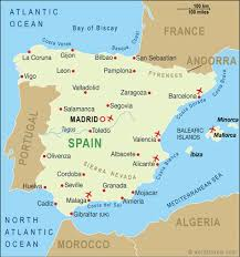 spain on a map spain map spain travel maps from word travels