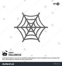 halloween spider web met icon halloween stock vector 329890976