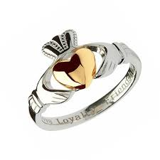 claddagh rings silver claddagh ring with 10kt gold heart claddagh jewellers