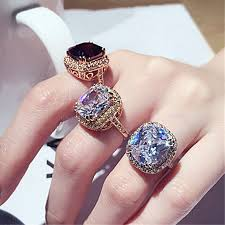jewelry large rings images Online shop brilliant massive amazing large big 6ct red cubic jpg