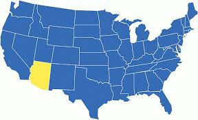 map of the united states with arizona highlighted arizona state maps usa maps of arizona az map usa