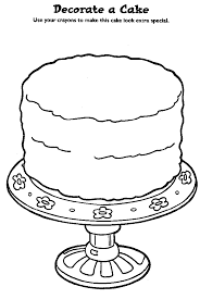 cute cake coloring pages kids coloringstar