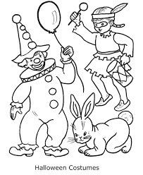 preschool coloring pages halloween costumes hallowen
