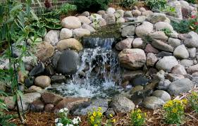 easy diy backyard small ponds with stone waterfall ideas pictures