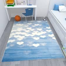 jugendzimmer teppich jugendzimmer teppich herzmuster blau weiß t011 vimoda homestyle