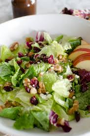 thanksgiving dinner salad fruity nutty salad a grande life