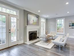 living room with cement fireplace u0026 hardwood floors in washington