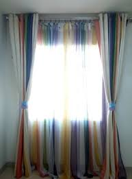 Two Different Colored Curtains Reviews Rainbow Multi Color Blackout Striped Curtains For Bedroom