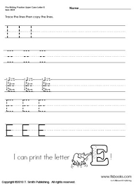 pre writing upper and lower case letters