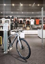 porsche bicycle testing out the new porsche experience center in atlanta