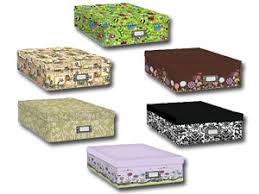 pioneer scrapbook box scrapbooking storage box with printed designs
