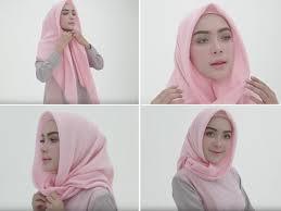 tutorial memakai jilbab paris yang simple tutorial hijab paris simple dan elegan ala selebgram cantik hamidah
