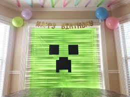 minecraft backdrop aly dosdall diy minecraft party decor part 2