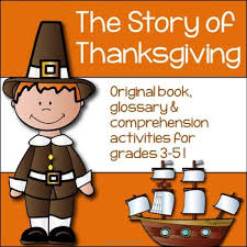 thanksgiving activities foldable book glossary and comprehension