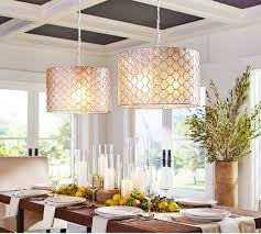 Dining Room Pendant Lighting Fixtures Capiz Drum Pendant Pottery Barn This Is Cool 2 Pendants
