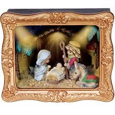 christmas gifts u201cdeluxe nativity shadow box u201d resin music box