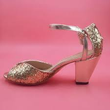 wedding shoes size 12 gold glitter wedding shoes sandal open toe 2015 6cm chunky heel