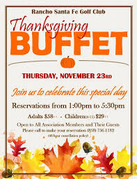 golf club thanksgiving buffet the rancho santa fe post