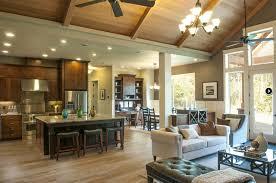 Open Floor Plans For Kitchen Living Room Open Floor Plan Different Level Ceilings In Kitchen To Living