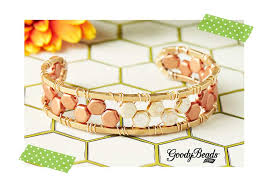 beads bracelet tutorials images Czech honeycomb bracelet tutorials goodybeads blog jpg