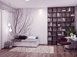 bedroom modern bedroom idea with purple bedroom design of white bed frame designed with drawers also white rug on the brown laminate floor combine with big