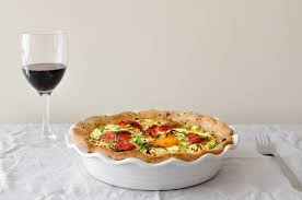 Quiche Blind Bake Or Not Cauliflower Rice Quiche With Zucchini Pepper And Feta Food