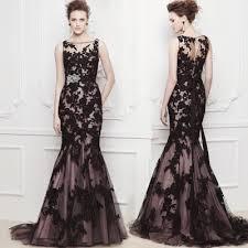 ys42 vestidos vestido de novia lace mermaid black red champagne