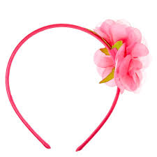 pink headband hot pink flower headband s