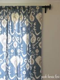 bedroom blue ikat curtains pictures decorations inspiration and