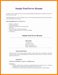 resumes for restaurant jobs bar server resume sample