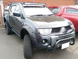 wide fender flares pocket style for mitsubishi l200 warrior