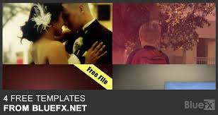 4 free after effects templates from bluefx video