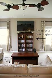 design your own home entertainment center diy faux fireplace entertainment center part one bless er house