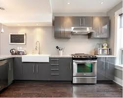 Kitchen With Gray Cabinets Gray Cabinets Dark Floors Houzz