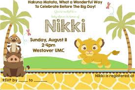lion king baby shower invites iidaemilia com